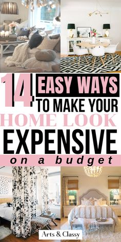 14 Easy ways to make your home look expensive on a budget. Easy budget decorating to make your home look high end on a modest budget - Make your home look more expensive Rental House Decorating, Rental Home Decor, Apartment Decorating On A Budget, Easy Home Decor, Apartment Ideas, Decorating Small Apartments, Small Space Decorating, Decorating Your Home, Cute Apartment Decor
