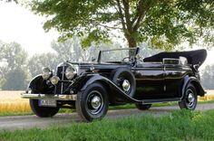 Horch 850 Pullman-Cabriolet : Die Nobelkarosse der Auto Union Vintage Cars, Antique Cars, Audi, Auto Union, Automotive Industry, Cool Cars, Volkswagen, Classic Cars, Vehicles