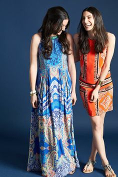Boteh Maxi Dress and Canna Shift from Anthropolgie. Perfect prints for spring break!