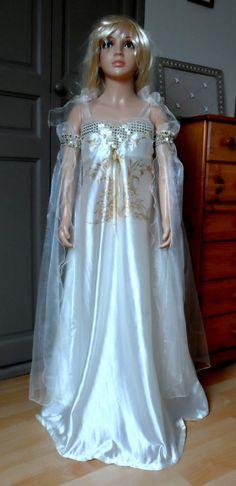 Robe de princesse en satin organza et paillettes à partir de 7 ans : Autres par nemri