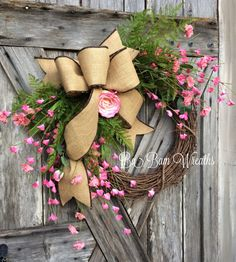 Spring Wreath Spring Floral Spring Decor Floral by BaBamWreaths