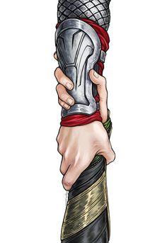 Thor und Loki The Rescue Kunst drucken 8.5 x 11 oder 11 x 17 Zoll