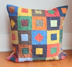 quilted throw pillows - Google Search