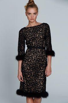 Black Cocktail Lace Dress - Collette Dinnigan