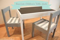 Country-Modern Baby Alert! A Gray and White Striped LÄTT Hack | PANYL self-adhesive furniture finishes