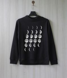 Moon Phase Moon Cycle Sweatshirt Sweater Shirt – Size XS S M L XL on Etsy, $37.61 CAD