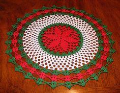 in Ravelry Crochet Tablecloth Pattern, Crochet Bedspread Pattern, Free Crochet Doily Patterns, Crochet Designs, Crochet Doilies, Crochet Christmas Ornaments, Christmas Crochet Patterns, Holiday Crochet, Christmas Crafts
