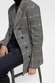 0926ab03 Image 7 of PLAID DOUBLE BREASTED OVERCOAT from Zara Men's Coats And  Jackets, Dapper,