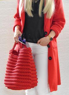 Crochet Purse Patterns, Crochet Tote, Crochet Purses, Easy Crochet, Knit Crochet, Handmade Handbags, Handmade Bags, Russian Pattern, Boutique Accessoires