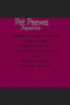 Aquarius Pet Peeves
