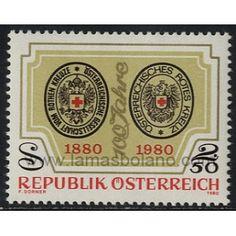 SELLOS DE AUSTRIA 1980 - CENTENARIO DE LA CRUZ ROJA AUSTRIACA - 1 VALOR - CORREO