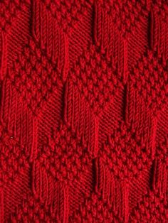 Red Knit Pattern