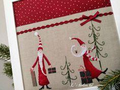 Tout Simplement , je viens vous Souhaiter --- --- Avec ces Pères Noël Au petit Air Rigolo Du livre UB design Christmas --- --- ...