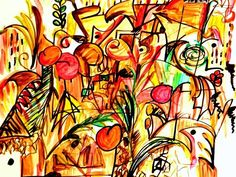 Africa Afrika Afric Africain Art Afrique Couleurs Colores Colours Print featuring the painting Afric by Chava Sarah