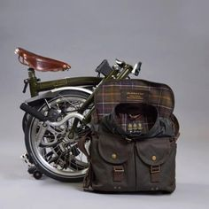 Brompton Tarras Bag in Olive Green- Part of the Barbour x Brompton  collection 30f8b25ed