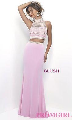 5279875c7280 BL-11230 Blush Prom Dress, Blush Dresses, Prom Dresses, Jersey Knit Skirt