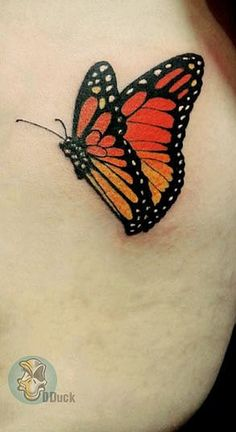 art 2014, butterfly, small, tattoo, ink, color, girl,