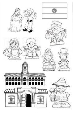 colorear imagenes epoca colonial - Buscar con Google Coloring Books, Coloring Pages, English Activities, Kids Education, Teaching English, Social Studies, Kindergarten, Homeschool, Clip Art