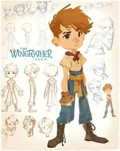 Wingfeather Saga - Principle Cast, Nicholas Kole on ArtStation at https://www.artstation.com/artwork/8oPyE