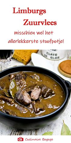 Dutch Recipes, Happy Foods, Food Inspiration, Crockpot Recipes, Stew, Slow Cooker, Bbq, Curry, Good Food