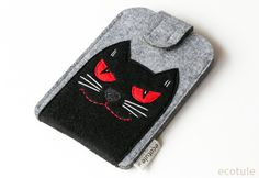 Iphone Phone Sleeve Inspired by Behemoth the Cat from by ecotule