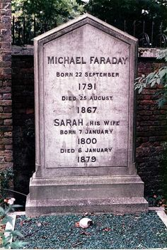 Faraday Michael grave. This Day in History: Aug 29,1831: Michael Faraday discovers electromagnetic induction.