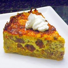 Inspired By eRecipeCards: Quiche Cake with a Hash Brown Crust