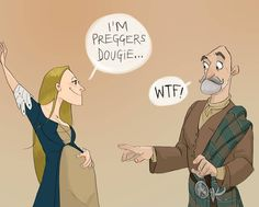 A few of my friends have announced they are pregnant recently. Congrats to them all!! I'm sure their men's response was way better than this one... #outlanderfanart #dougalmackenzie #geillisduncan #Outlander