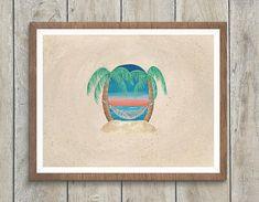 Beach Wedding Guest Book Alternative, Art Print / Destination Wedding Guestbook Canvas / Unique Guestbook Idea / Palm Trees Wedding Decor  #beachwedding #guestbook #palmtreewedding