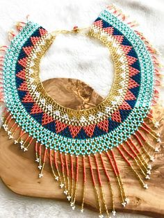 fashion guide for what to pack for tulum Neck Accessories, Summer Necklace, Beaded Collar, Beaded Jewelry, Beaded Necklaces, Loom Beading, Tulum, Handmade Necklaces, Style Guides