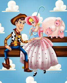 Woody and Bo Peep by Mareishon on DeviantArt
