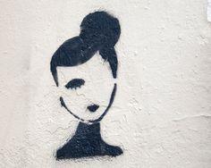 Paris Photography Graffiti Woman Large Art by TheParisPrintShop