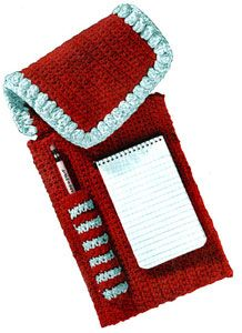 Notepaper and Pencil Case crochet pattern from Suggestions for Fairs and Bazaars, originally published by American Thread Co, Star Book No. 98, in 1953.