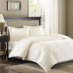 Found it at Wayfair - Premier Comfort Arctic 3 Piece Comforter Set in Ivory