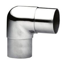 Coude droit pour tube rond Ø43mm en inox 316l, finition poli miroir ou brossé.