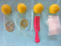 Learn with Play at home: Playdough Imprints. Texture and Pattern Exploration