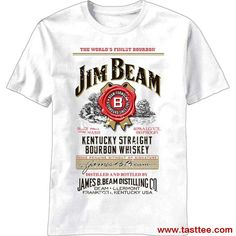 bbb1a138 New Short Sleeve Round Collar Mens T Shirts Fashion 2017 Jim Beam Men's  Whiskey Label T-shirt