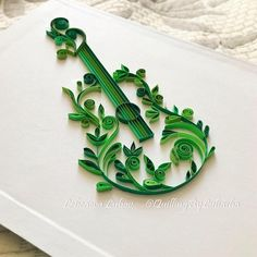 There is something in music, not n - Quilling Deco Home Trends Neli Quilling, Paper Quilling Cards, Quilling Work, Paper Quilling Patterns, Origami And Quilling, Quilled Paper Art, Quilling Paper Craft, Paper Crafts Origami, Paper Quilling Tutorial