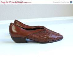 Sale vintage 80s SIENNA woven LEATHER Italian by TigerlilyFrocks, $42.40