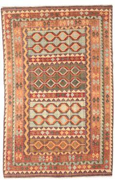 Kelim Afghan Old style tapijt NAJ166 195x297 van Afghanistan - CarpetVista