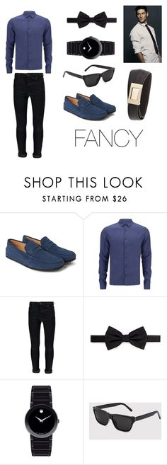 """""""Fancy outfit for men"""" by michael98 ❤ liked on Polyvore featuring Tod's, Orlebar Brown, Boohoo, Lanvin, Movado and Salvatore Ferragamo"""