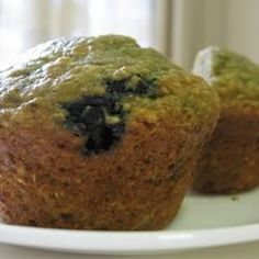 Health Nut Blueberry Muffins. These are so good and full of good for you stuff.