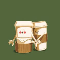 요즘 파리바게뜨 커피잔으로 자주하는 장난