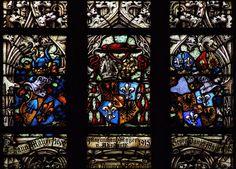 Stained glass in Saint Maurice churche, Olomouc.jpg