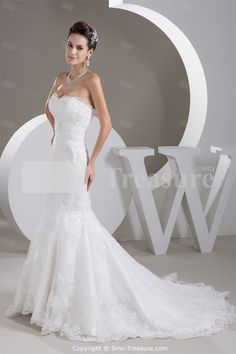Nice White A-Line Sweetheart Satin Sweetheart Wedding Dress  Wholesale Price: US$259.99  yep! this is my dress!!! or something very similar to this! I absolutely love it!!