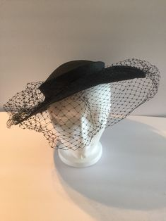 ffa64c074bb Excited to share this item from my  etsy shop  black brim veil hat-