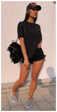 cute lazy outfits for summer shorts