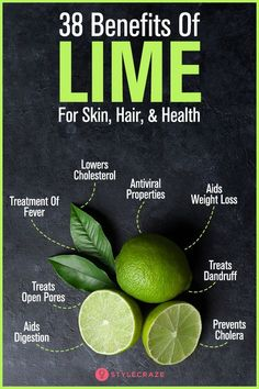 38 Benefits Of Lime (Kaccha Nimbu) For Skin, Hair, And Health. Lime juice is much more than just a refreshing & energizing drink. If yes, learn here 38 best benefits of lime fruit with nutrition facts. Nutrition Education, Sport Nutrition, Health And Nutrition, Health And Wellness, Nutrition Quotes, Holistic Nutrition, Nutrition Guide, Health Facts, Healthy Foods