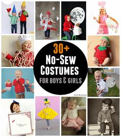 30+ No-Sew Costumes for Boys & Girls!
