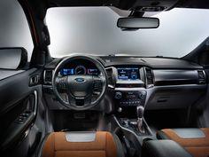 Интерьер пикапа Ford Ranger 2016 / Форд Ренджер 2016 с двойной кабиной